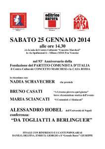 iniziativa Milano (25 gennaio 2014)