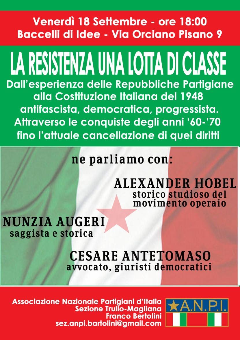 """Roma, 18 settembre, sezione Anpi """"Franco Bertolini"""""""
