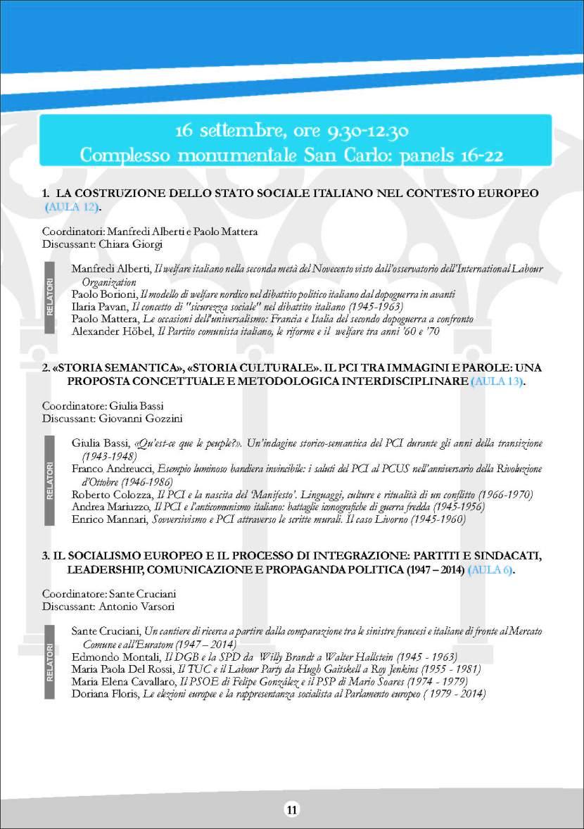 Cantieri di storia Sissco, Viterbo, 14-16 settembre 2015