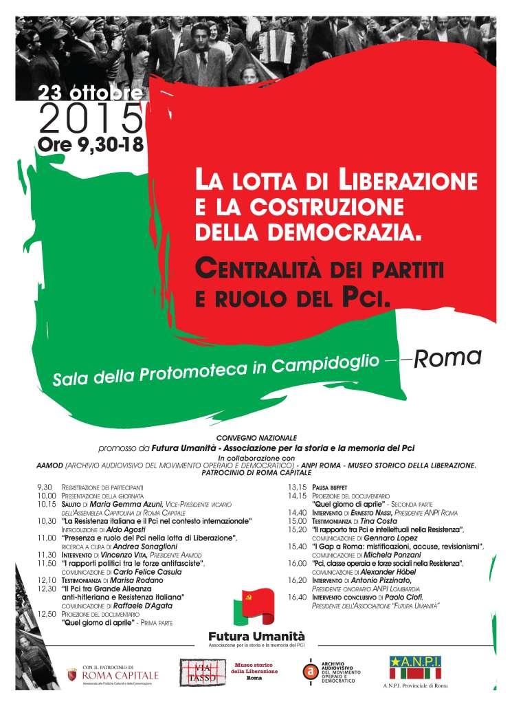 Roma, 23 ottobre 2015 - Convegno nazionale