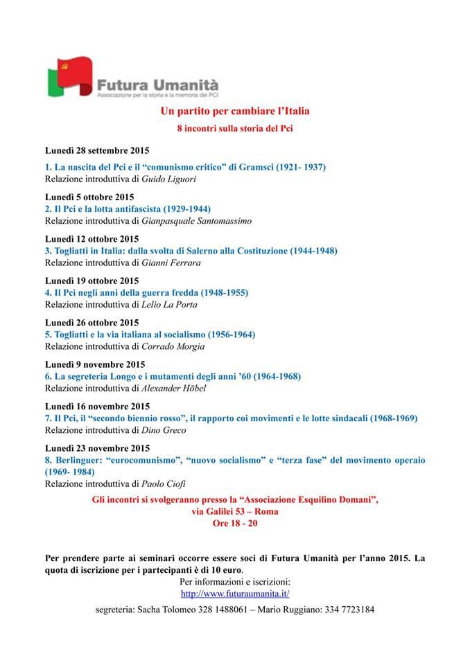 """""""La segreteria di Luigi Longo e i mutamenti degli anni '60"""" (Roma, via Galilei 53, 9 novembre – ore 18)"""